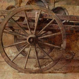 Grafische kunst, oud wiel