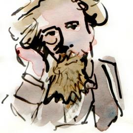 Aquarel, inkt - portret 2