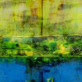 grafische kusnt - groene heuvels