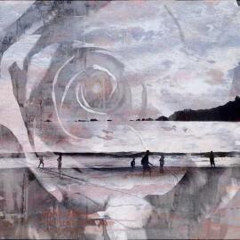 Het schiereiland, grafische kunst Wim Noordam