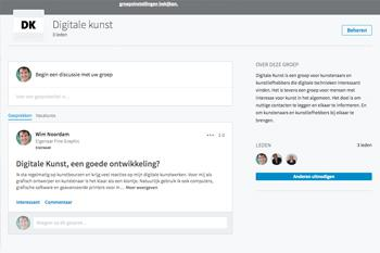 LinkedIn Groep: Digitale Kunst