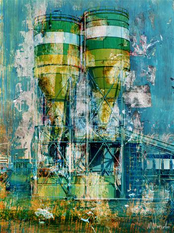 Grafische kunst Haven Rotterdam